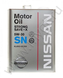 NISSAN STRONG SAVE X SN 5W-30 масло моторное 4 л